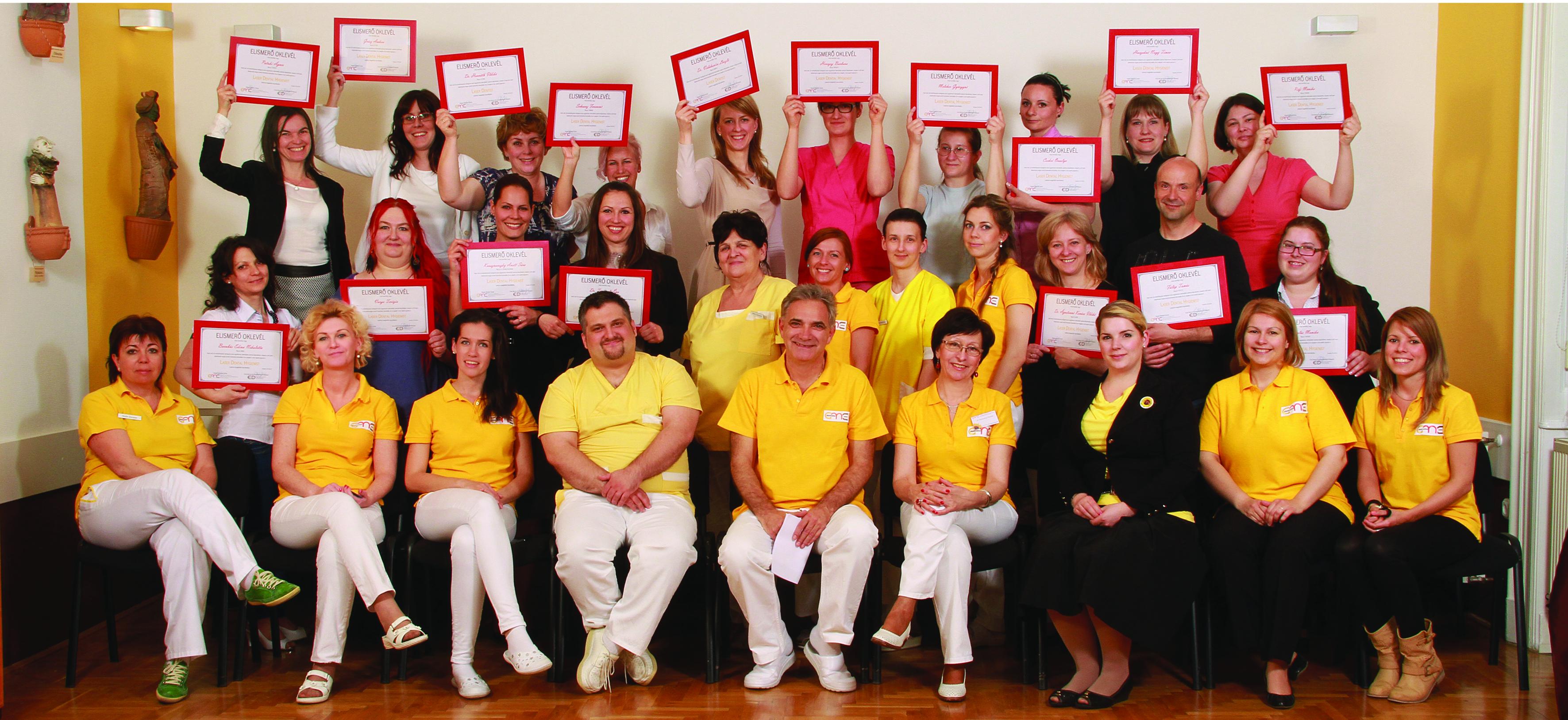 laser dentist végzős csoport